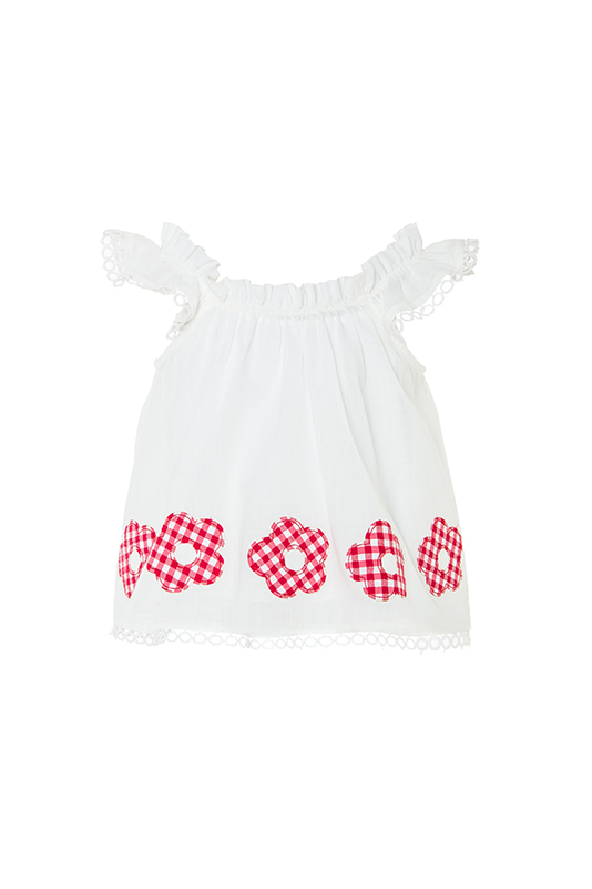 2/6 Years Girl Red Athlete With Embroidery Lace Ribbon Detailed