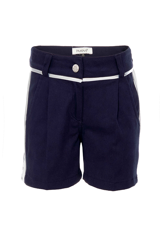 2/6 Years Girl Frill Detailed Embroidered Fabric Suit With Blouse And Navy Shorts