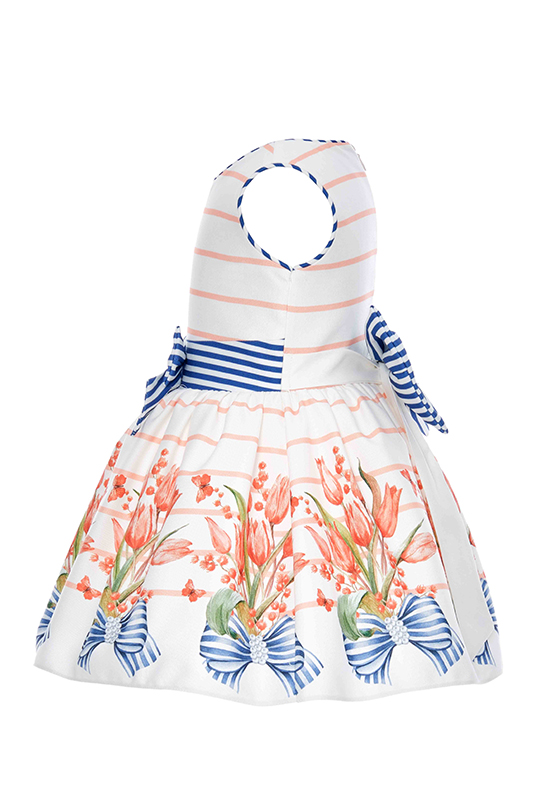 9/36 Months Baby Girl Tulip Patterned Powder Dress