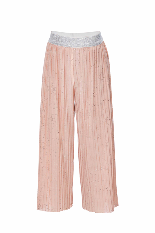 6/10 Years Girl Pleated Suit With Powder Trousers