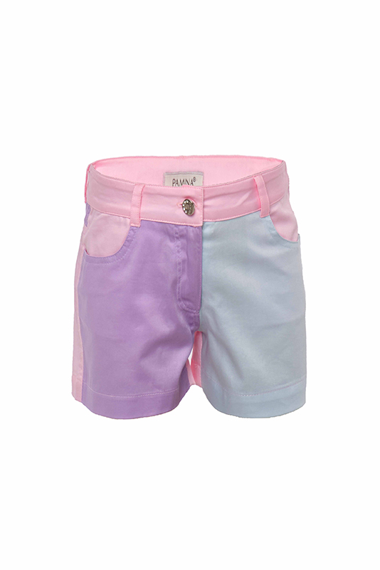 2/6 Years Girl Colorful Suit With Pink Shorts