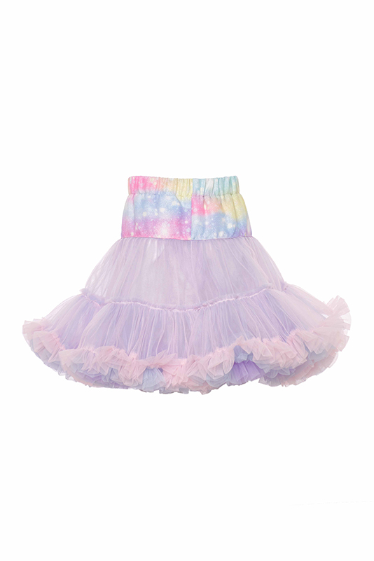 2/6 Years Girl Unicorn Printed Suit With Pink Tutu Skirt